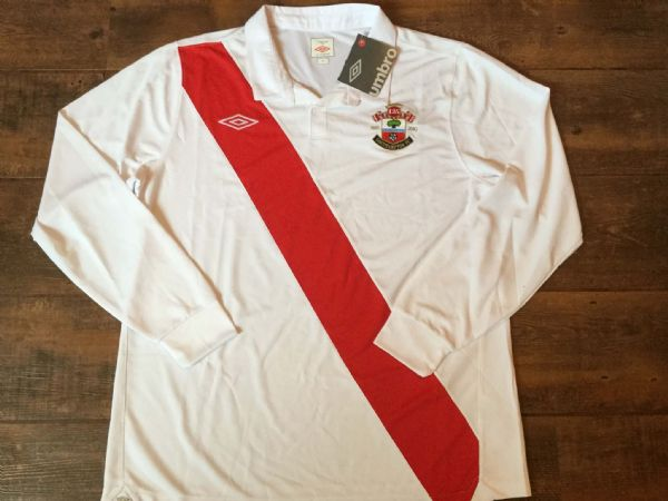 2010 2011 Southampton L/s BNWT New 125 Years Anniversary Adults XL Home Football Shirt